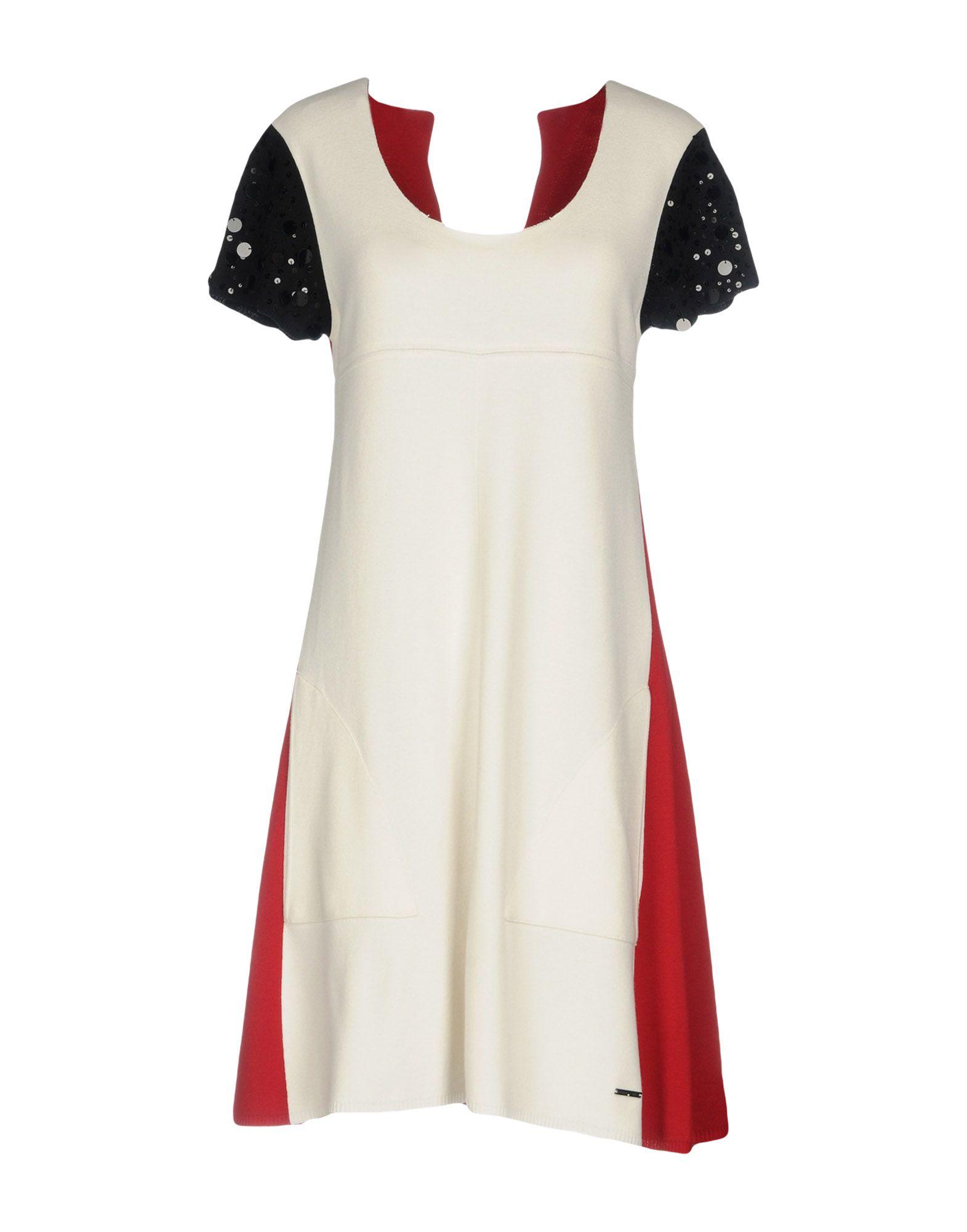 TWIN-SET Simona Barbieri Damen Kurzes Kleid Farbe Weiß Größe 5