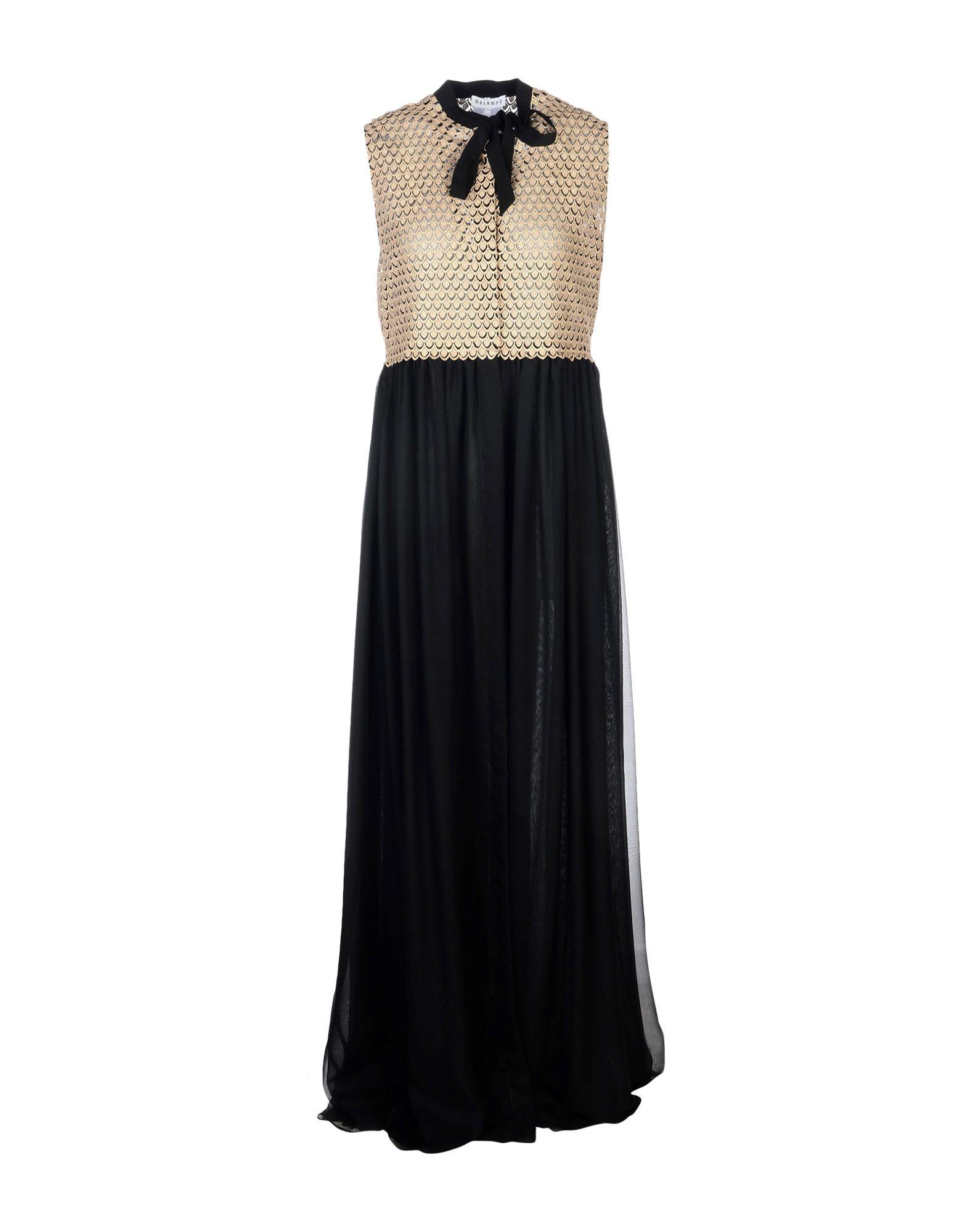 MELAMPO Long Dress in Black