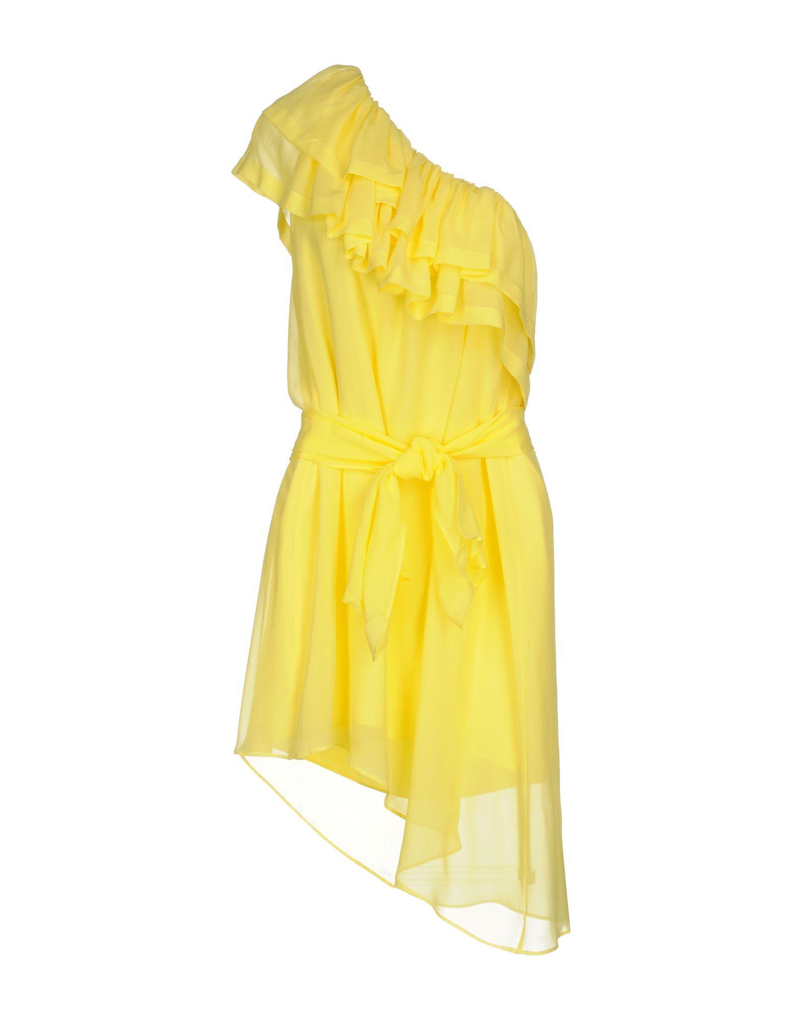 CHRISTIAN PELLIZZARI Damen Kurzes Kleid Farbe Gelb Größe 3