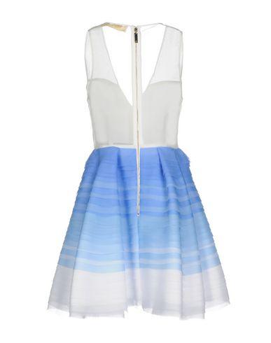Фото 2 - Женское короткое платье ELISABETTA FRANCHI GOLD лазурного цвета