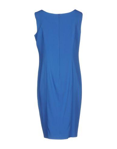 Фото 2 - Платье до колена синего цвета