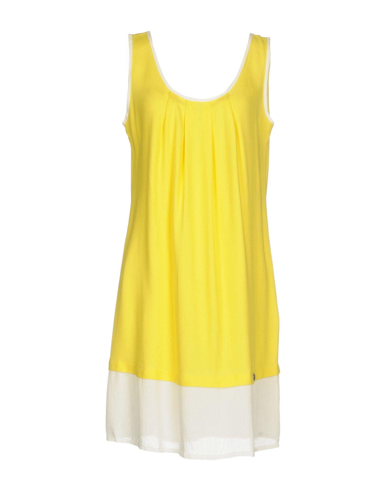 CAFèNOIR Damen Kurzes Kleid Farbe Gelb Größe 3