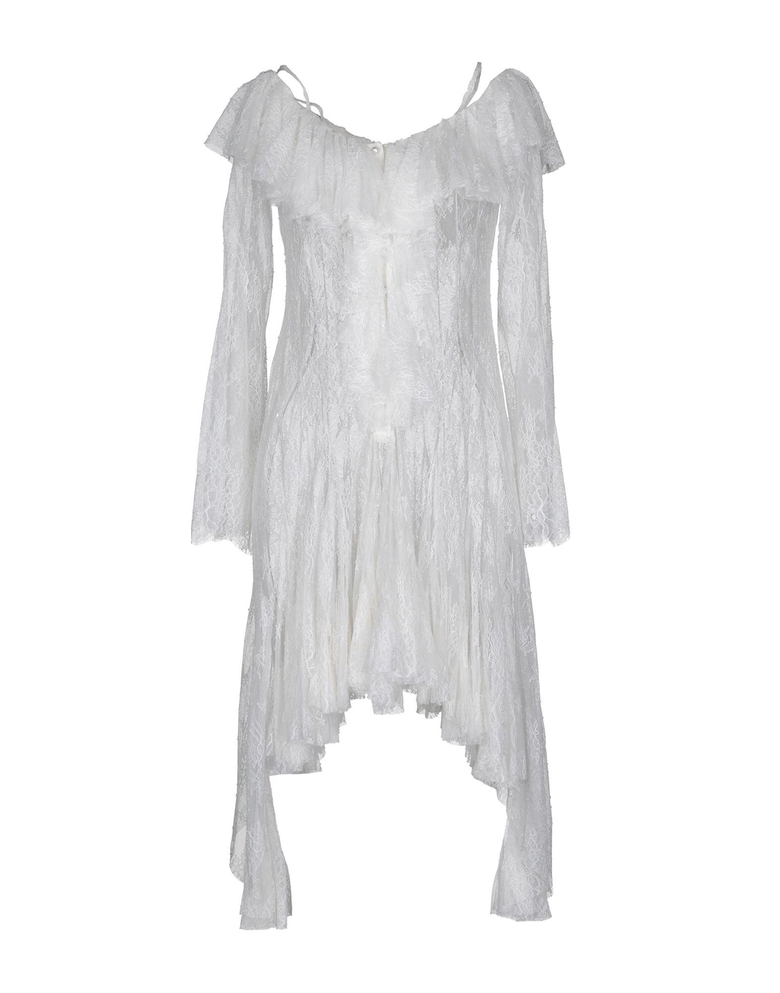 《送料無料》PHILOSOPHY di LORENZO SERAFINI レディース ミニワンピース&ドレス ホワイト 44 ナイロン 100%