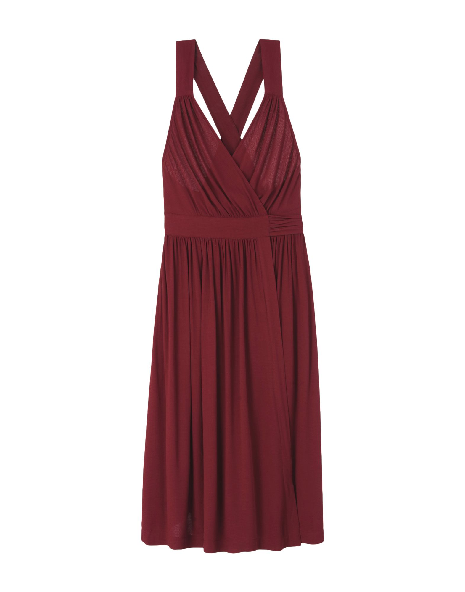 SESSUN Knee-Length Dress in Maroon