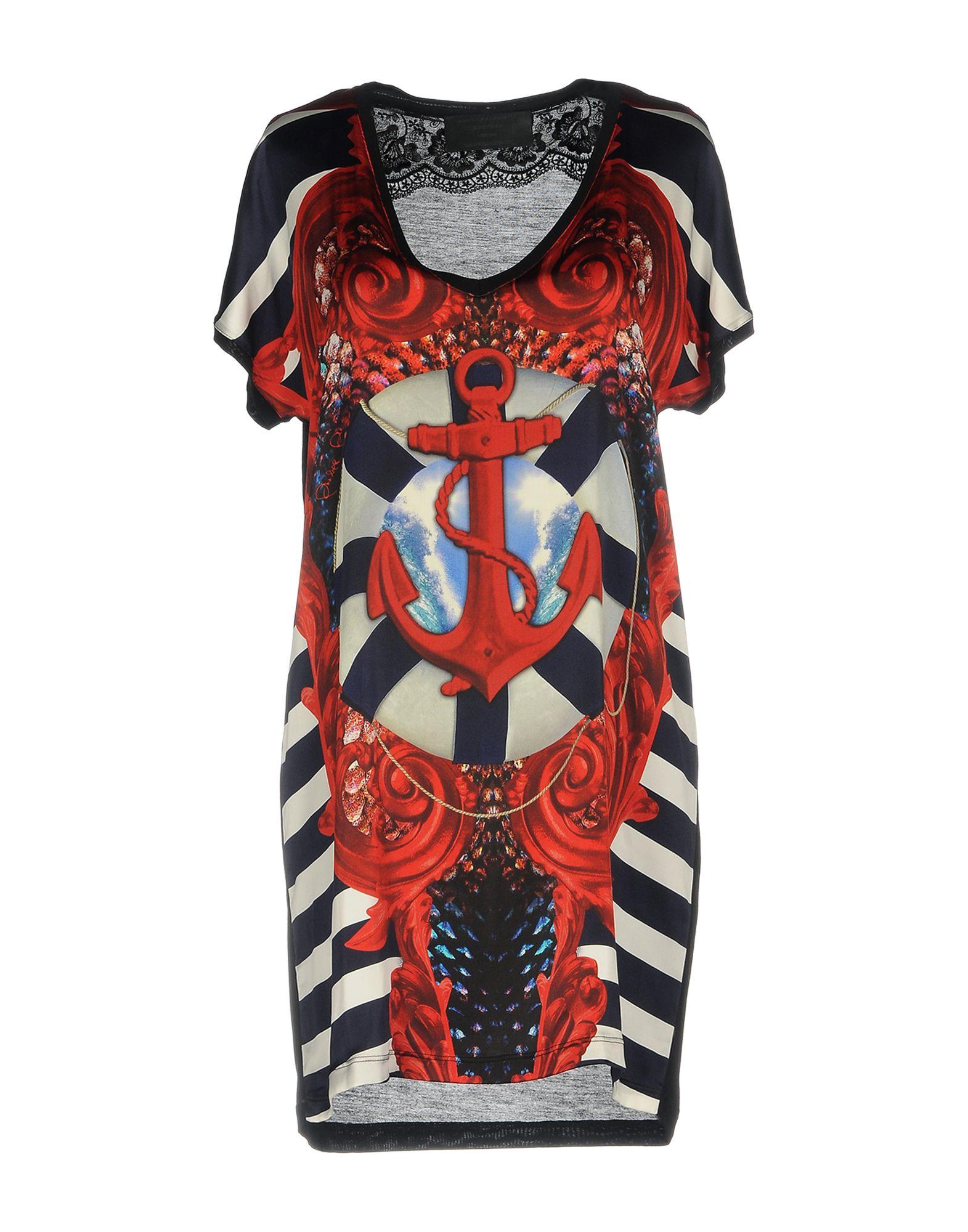 PHILIPP PLEIN Короткое платье картридж cactus cs c9369 фото черный светло пурпурный светло голубой