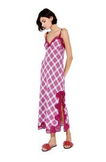 ALBERTA FERRETTI Cardigan Woman Maxi cardigan with fuchsia stripes f