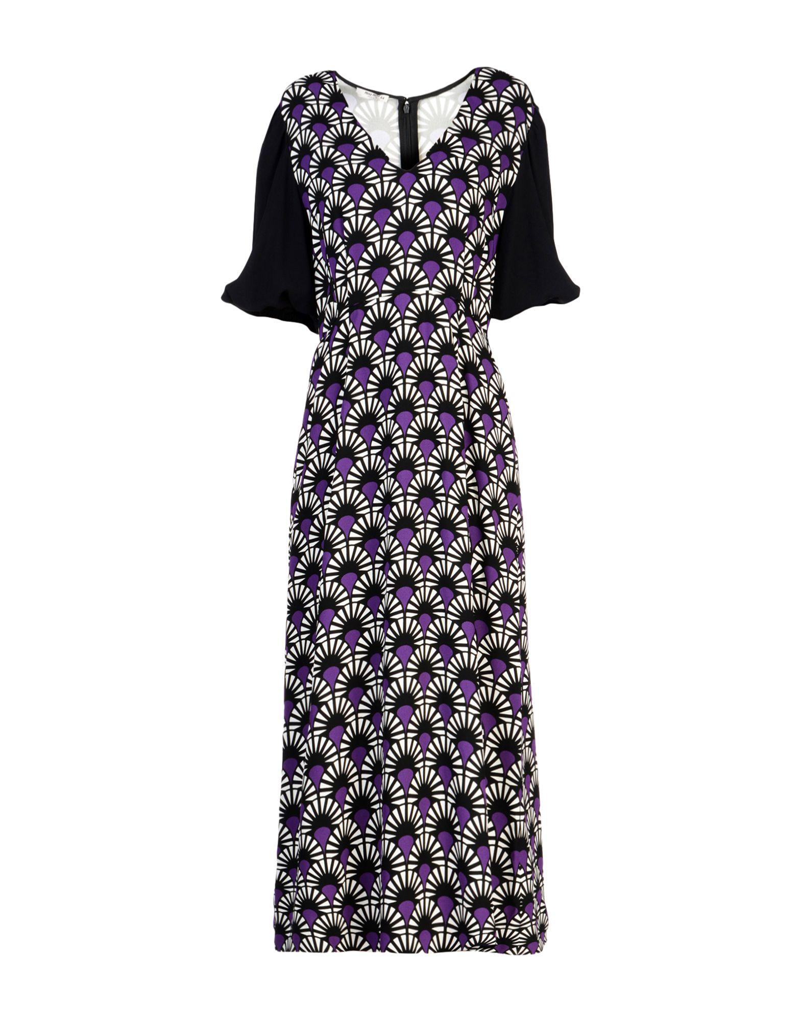 MIU MIU Платье длиной 3/4 miu miu бархатное платье