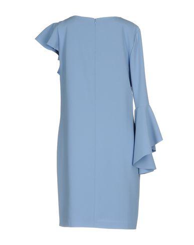 Фото 2 - Женское короткое платье  пастельно-синего цвета