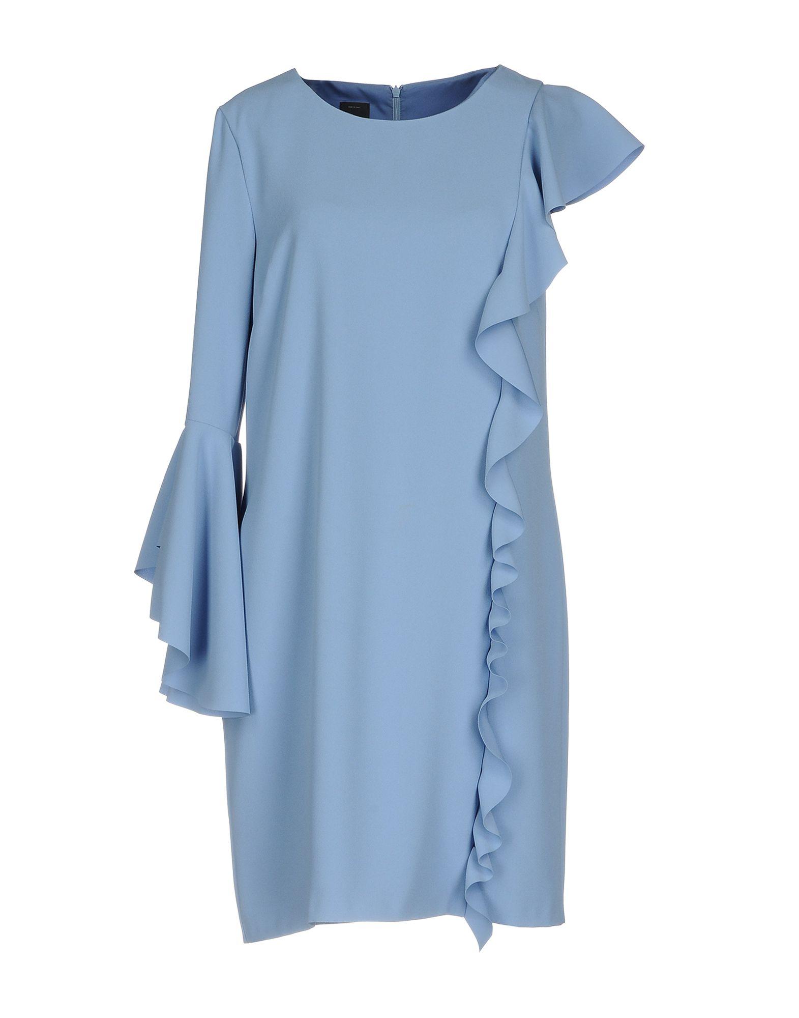 PINKO Damen Kurzes Kleid Farbe Blaugrau Größe 2