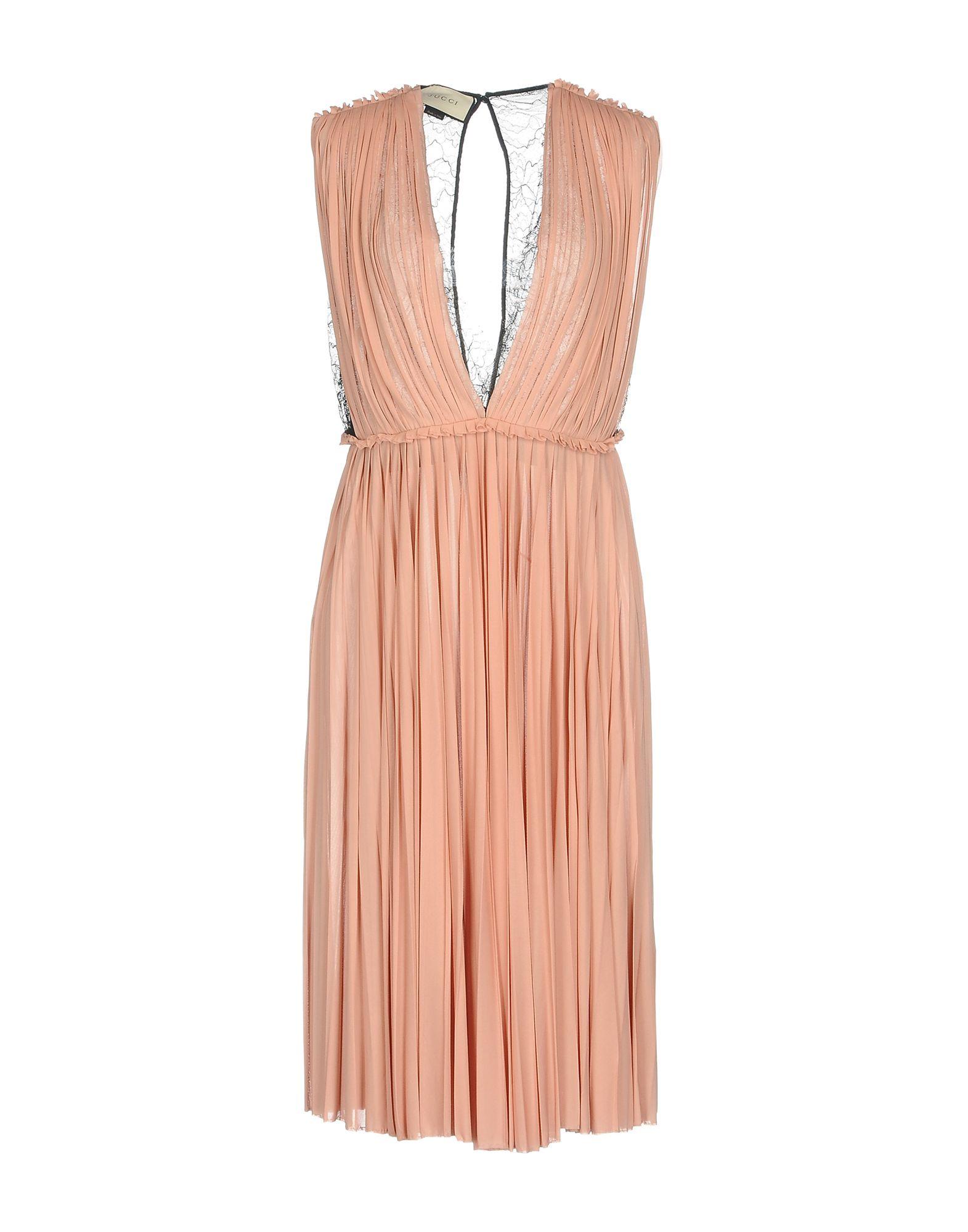 GUCCI Damen Knielanges Kleid Farbe Rosa Größe 6