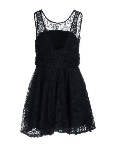 Фото 2 - Женское короткое платье NO SECRETS темно-синего цвета