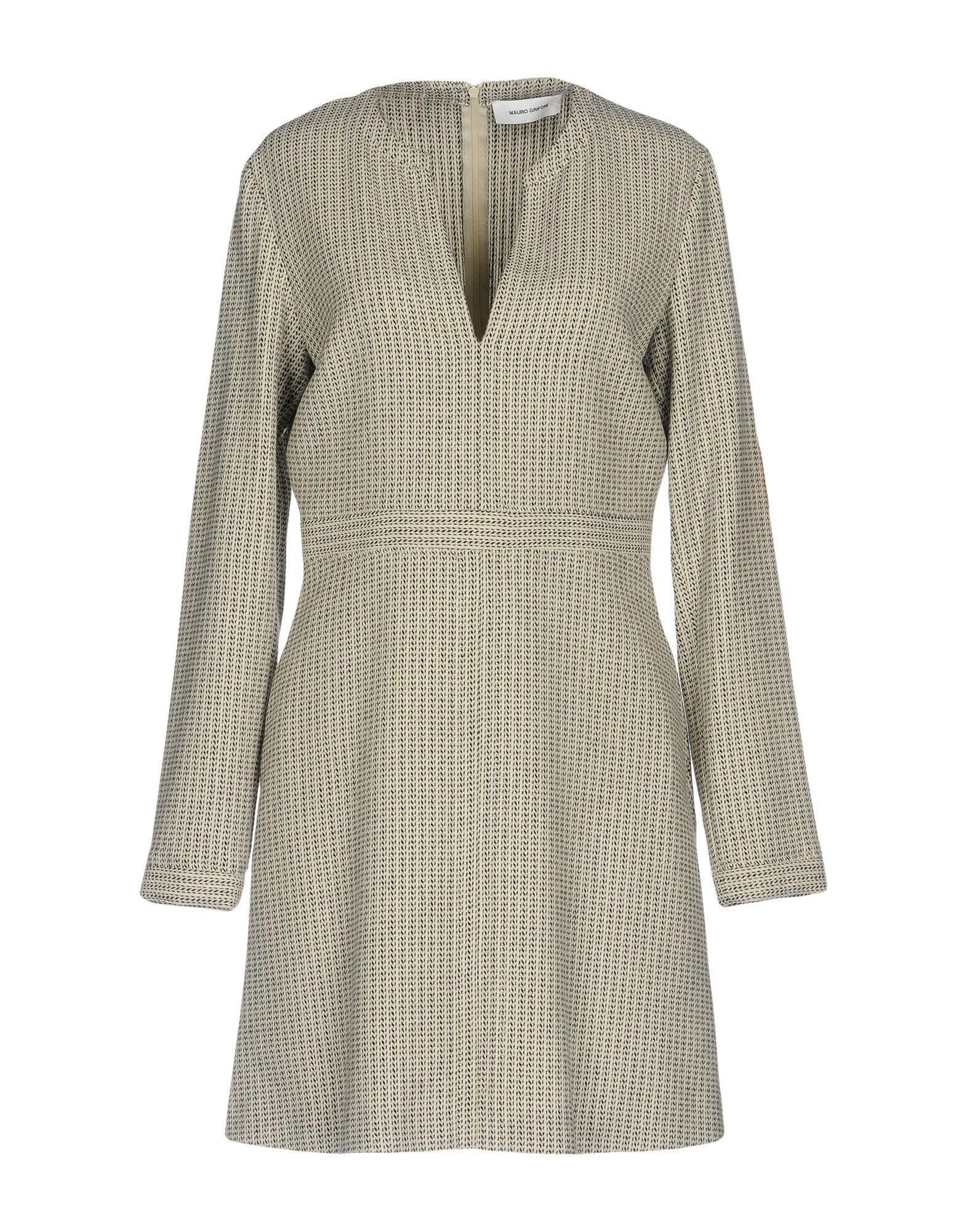 MAURO GRIFONI Damen Kurzes Kleid Farbe Elfenbein Größe 6