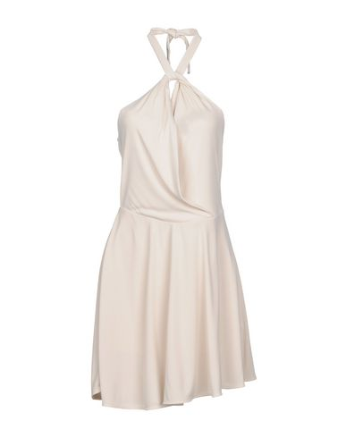 PATRIZIA PEPE Damen Kurzes Kleid Beige Größe 30 80% Acetat 20% Polyamid