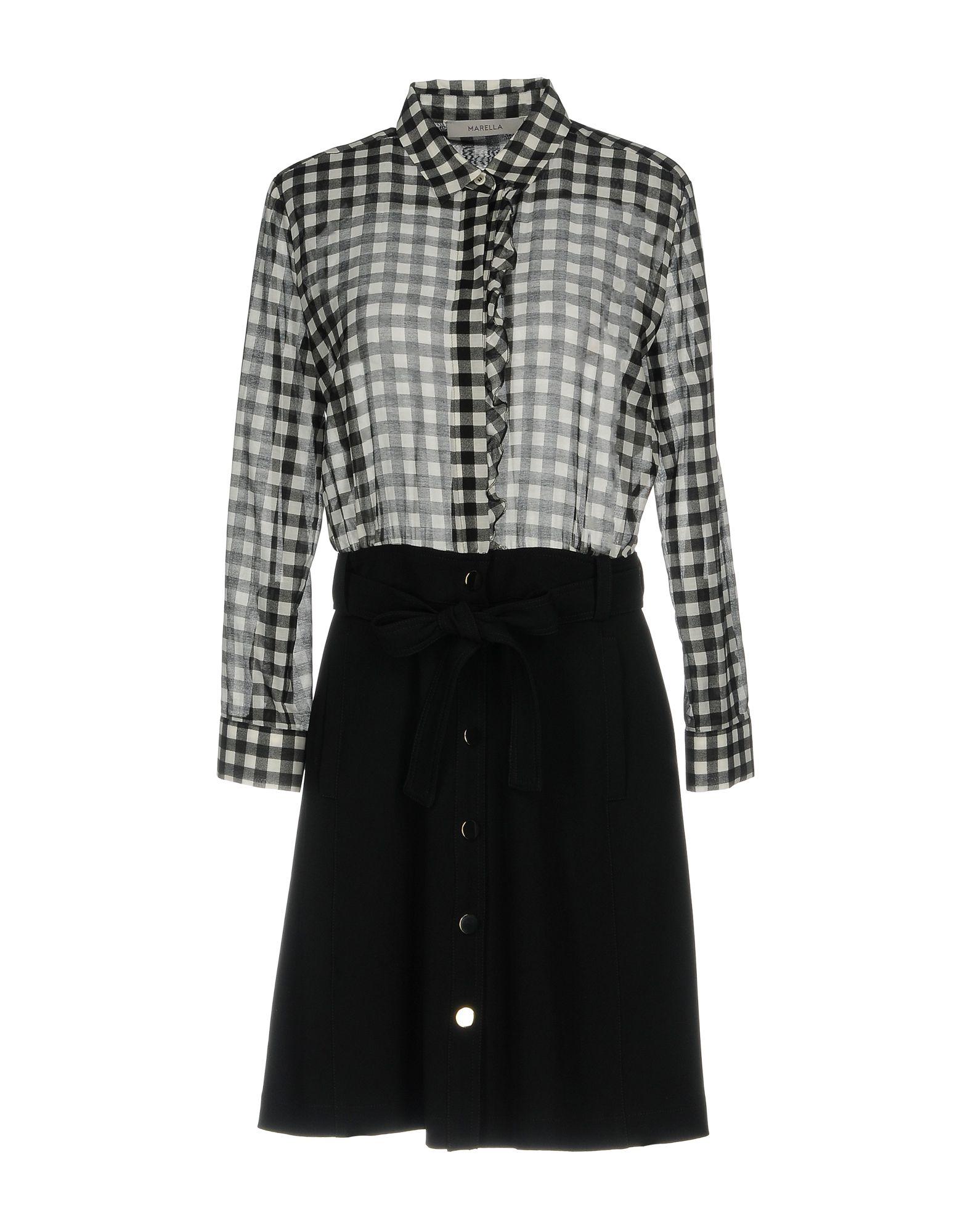 цена MARELLA Короткое платье онлайн в 2017 году