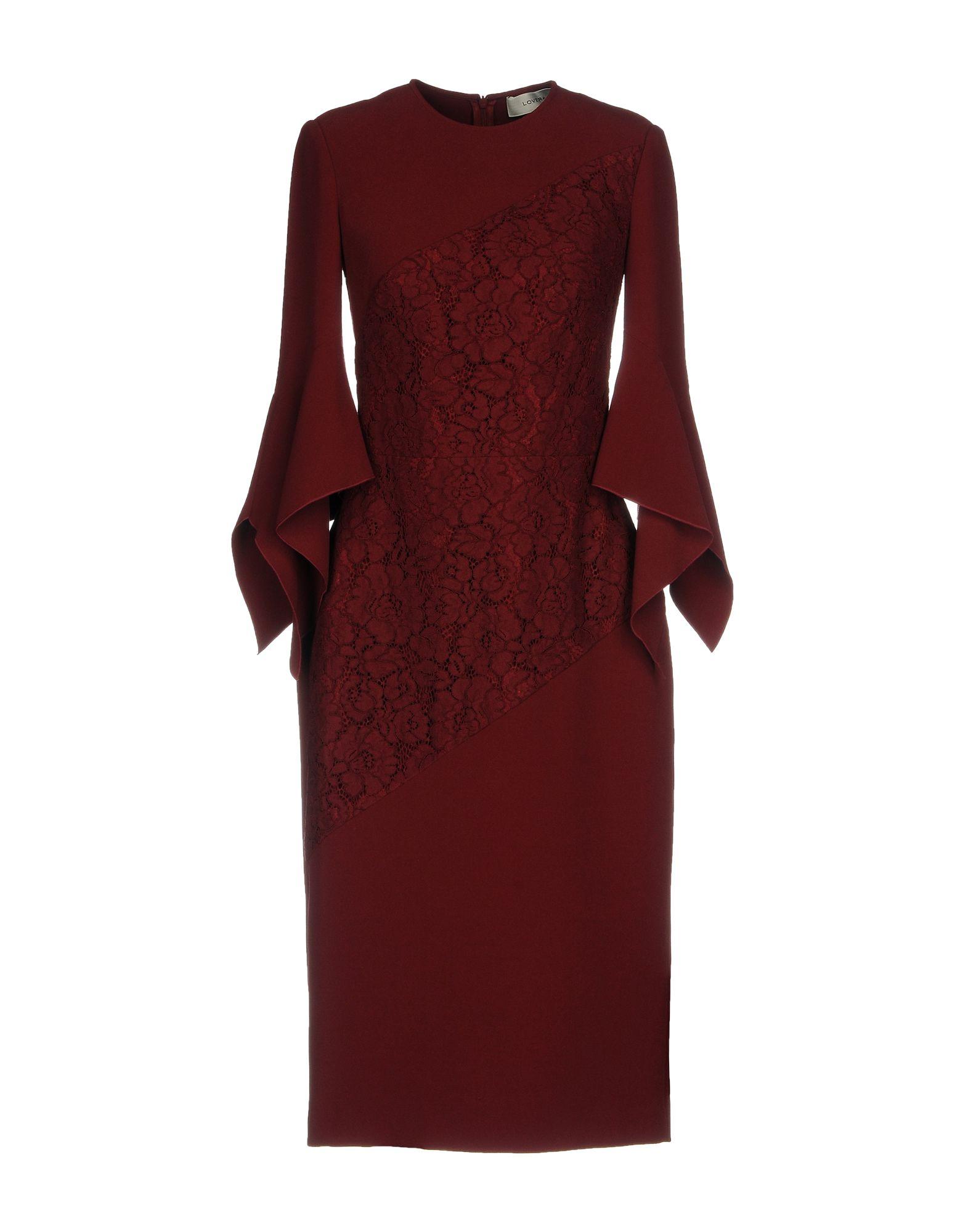 LOVER Knee-Length Dress in Maroon