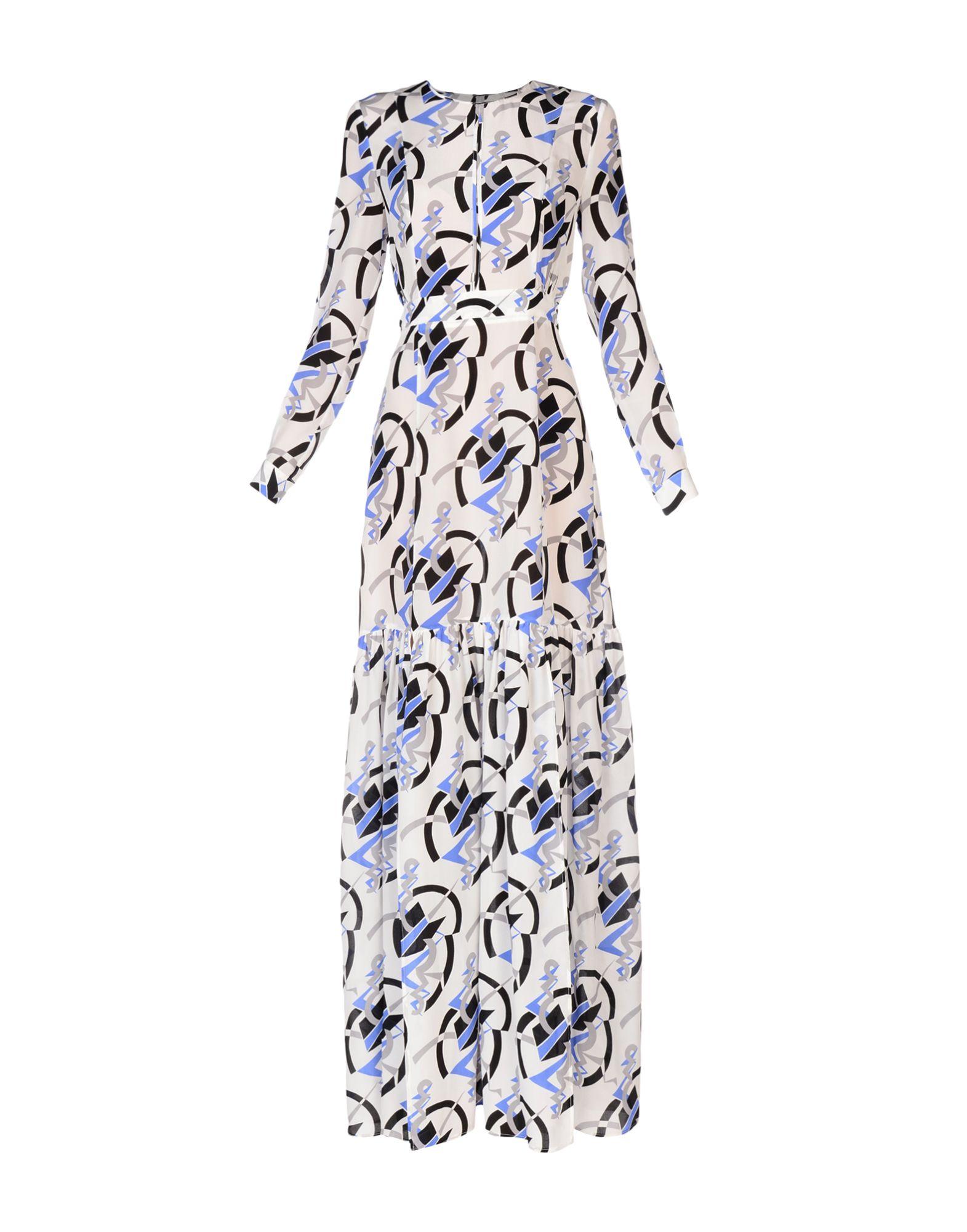 MSGM Длинное платье платье короткое спереди длинное сзади летнее