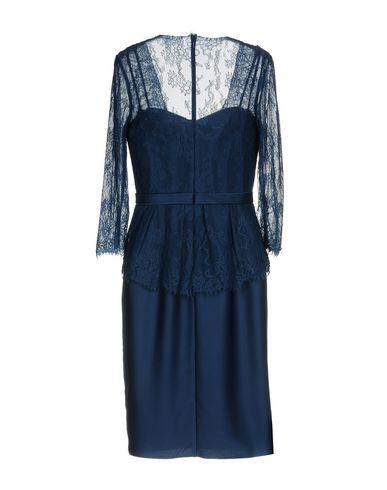 Фото 2 - Платье до колена от PASTORE COUTURE темно-синего цвета