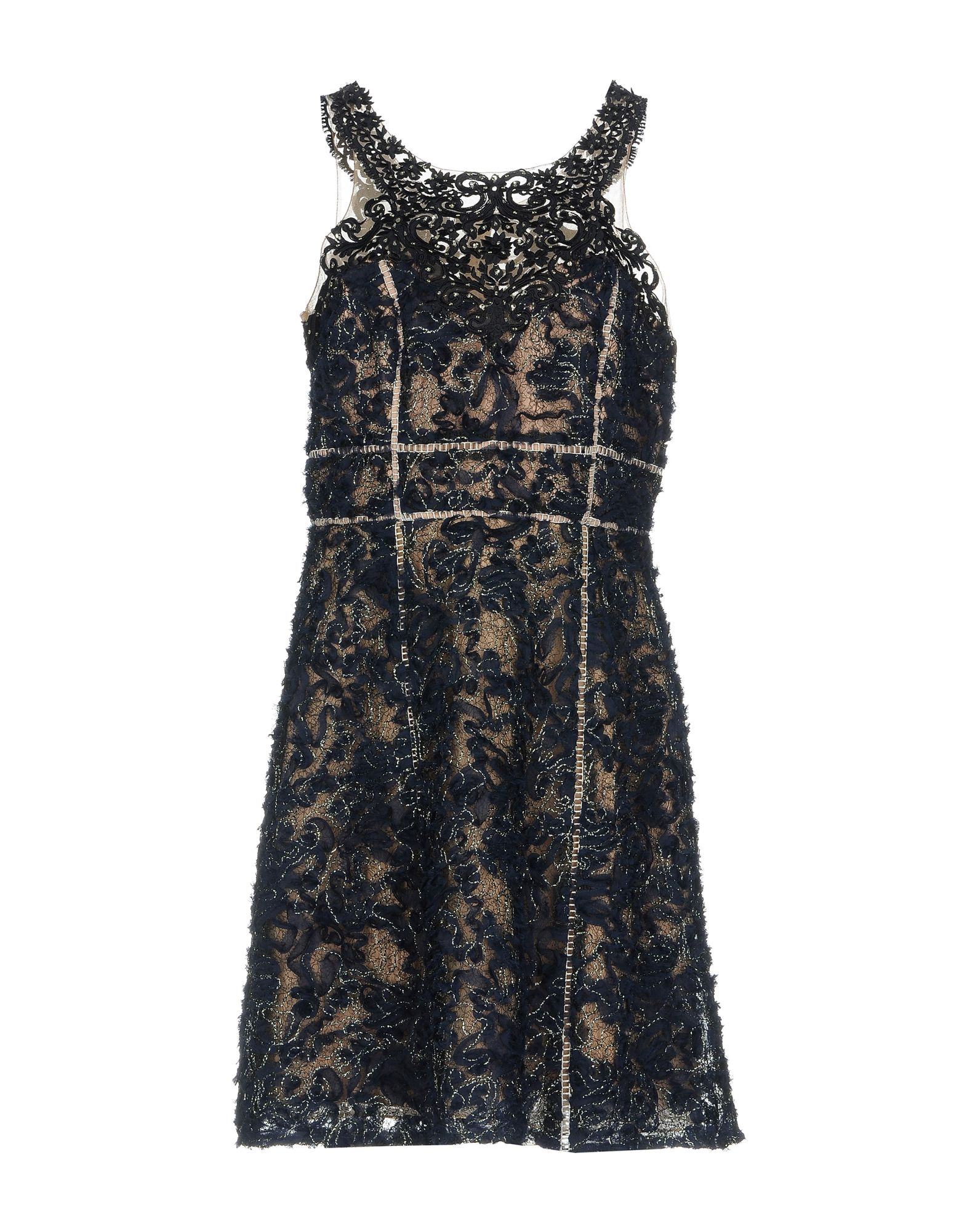 MARCHESA NOTTE Короткое платье omero колготки iride 50 blu notte