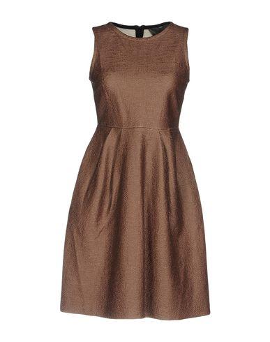 Купить Женское короткое платье  коричневого цвета