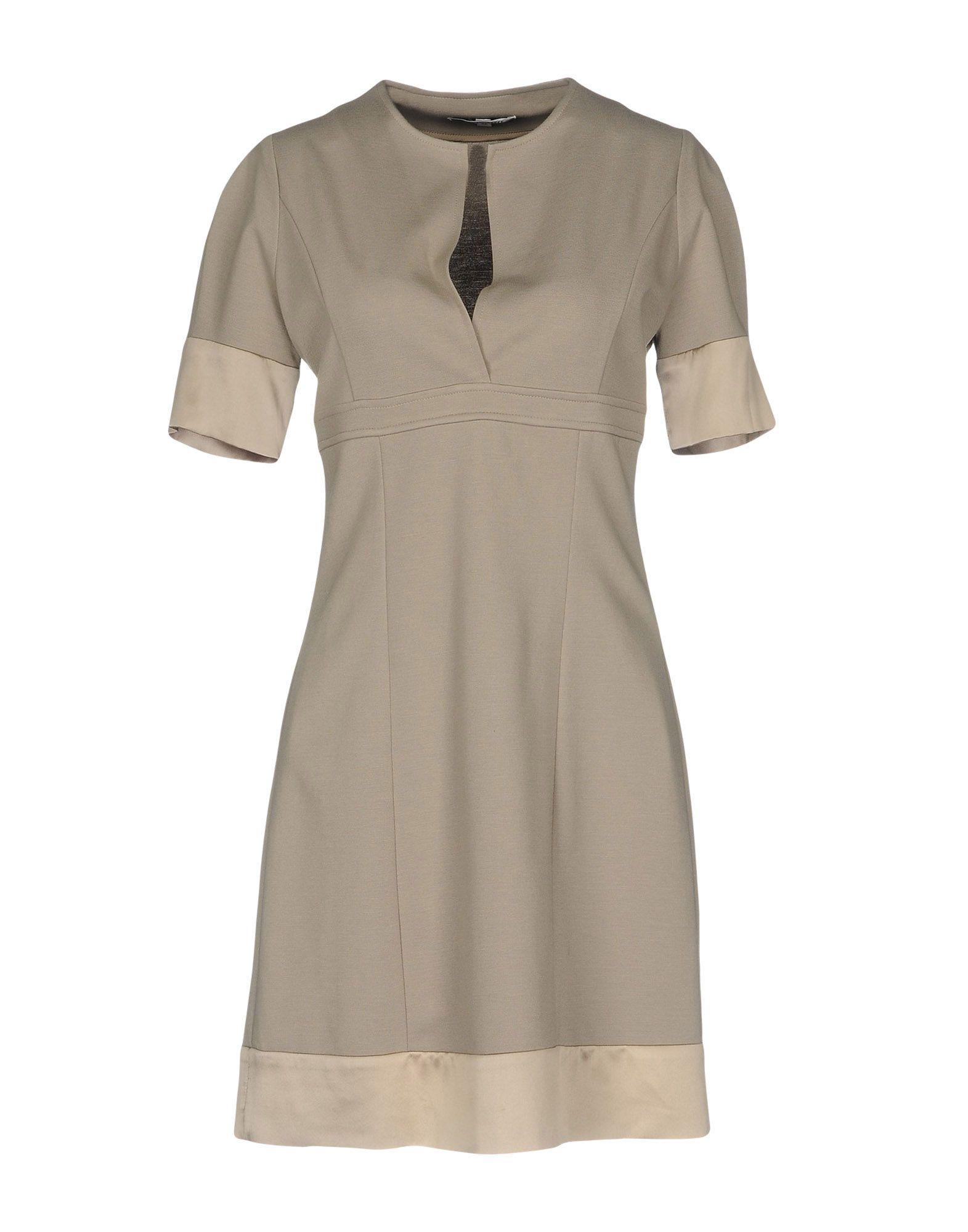 CRISTINAEFFE Damen Knielanges Kleid Farbe Beige Größe 4