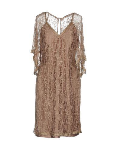 Фото - Женское короткое платье PASTORE COUTURE цвет голубиный серый