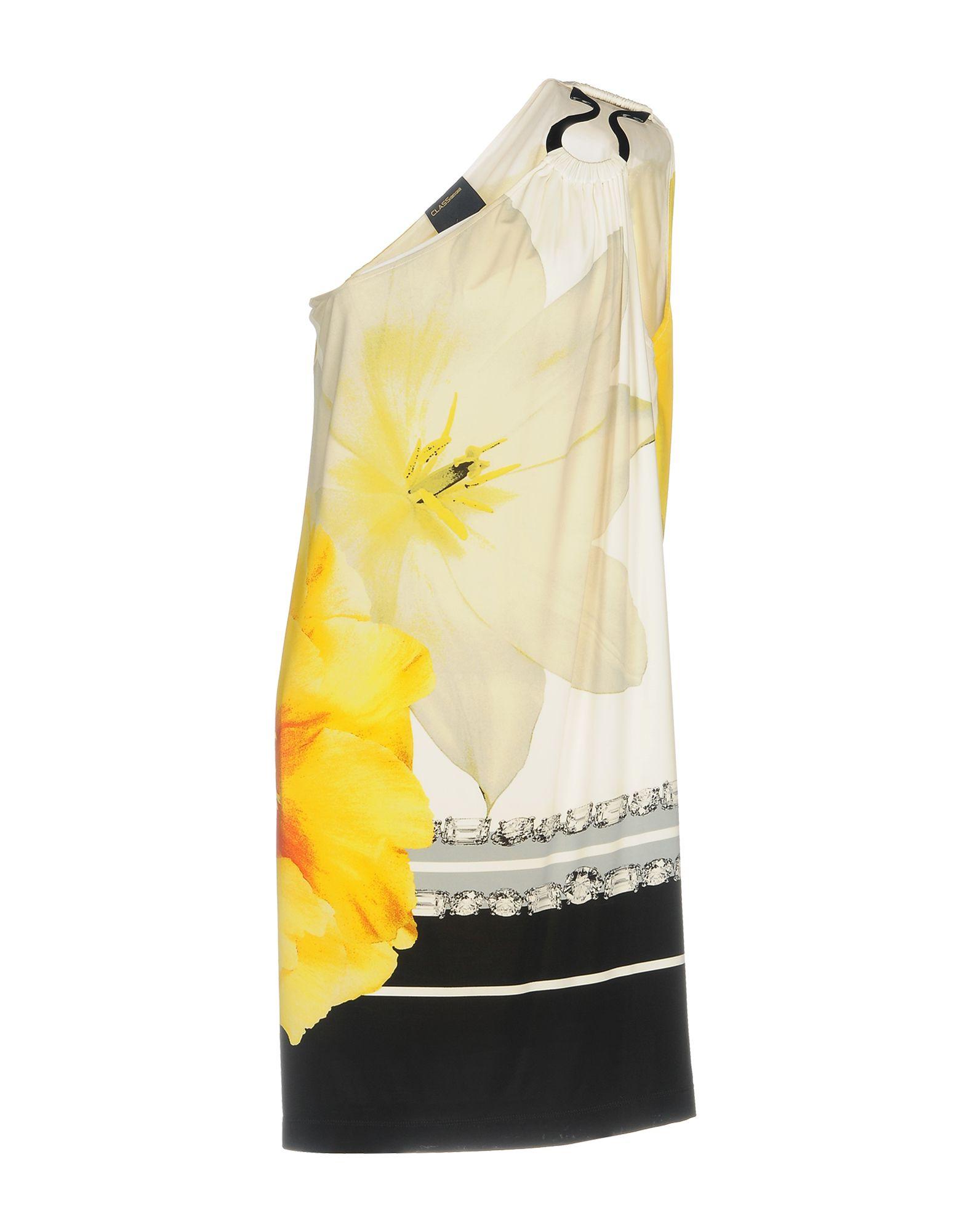 CLASS ROBERTO CAVALLI Damen Kurzes Kleid Farbe Gelb Größe 5