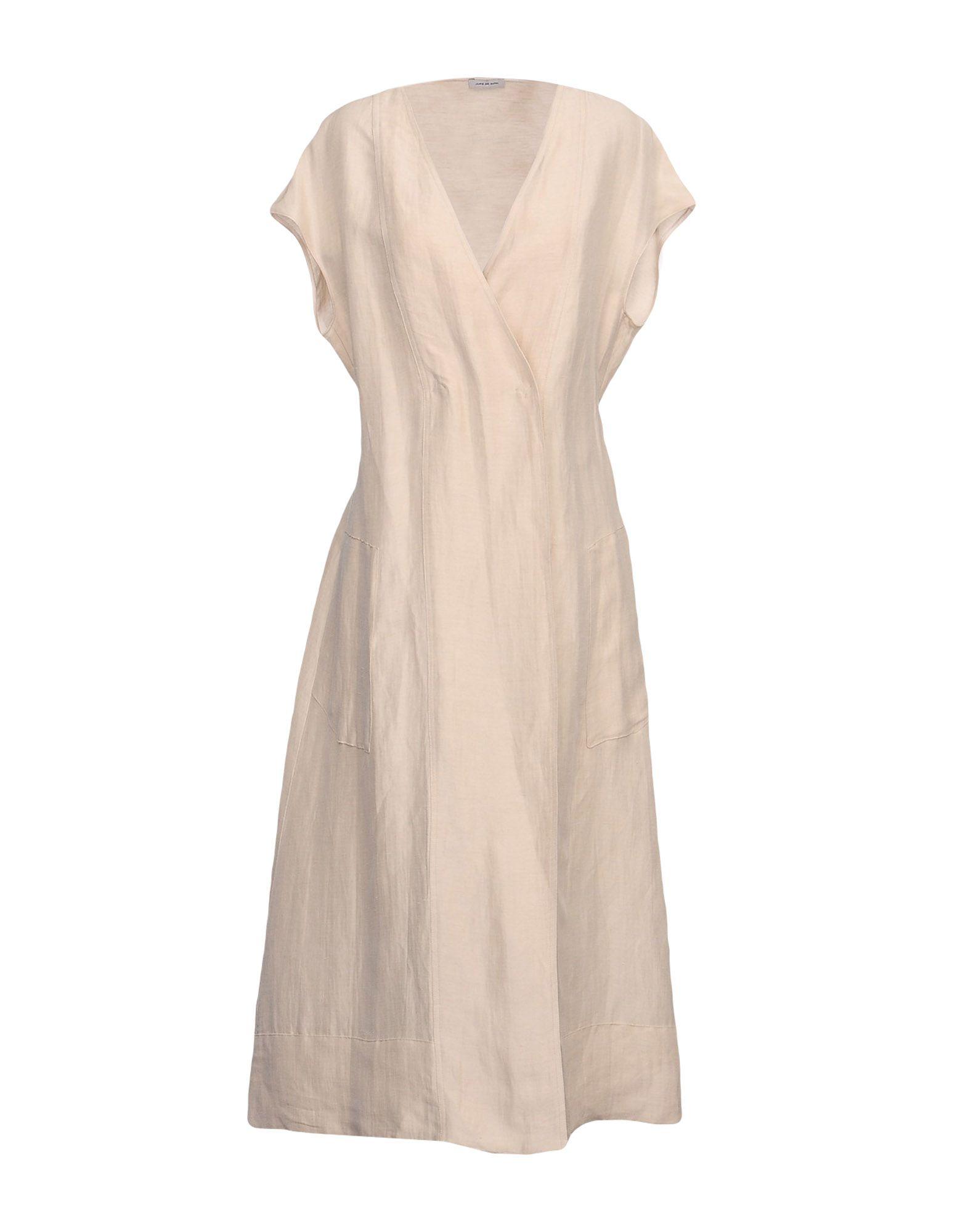 JUPE DE SATIN Платье длиной 3/4 jupe de satin пальто