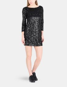 ARMANI EXCHANGE STRIPE DETAIL SEQUIN SHIFT Mini dress Woman a