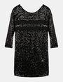 ARMANI EXCHANGE STRIPE DETAIL SEQUIN SHIFT Mini dress Woman b