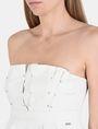 ARMANI EXCHANGE STRAPLESS STUD-DETAIL DRESS Mini dress Woman e