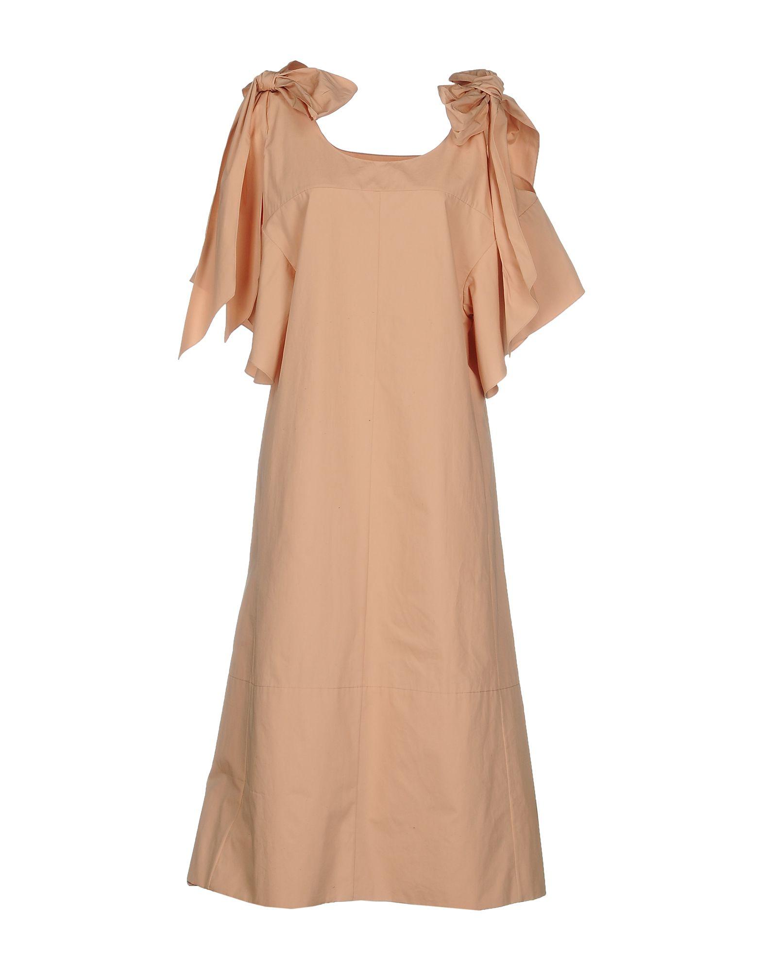 CHLOÉ Платье длиной 3/4 платье с зернистым рисунком chloé