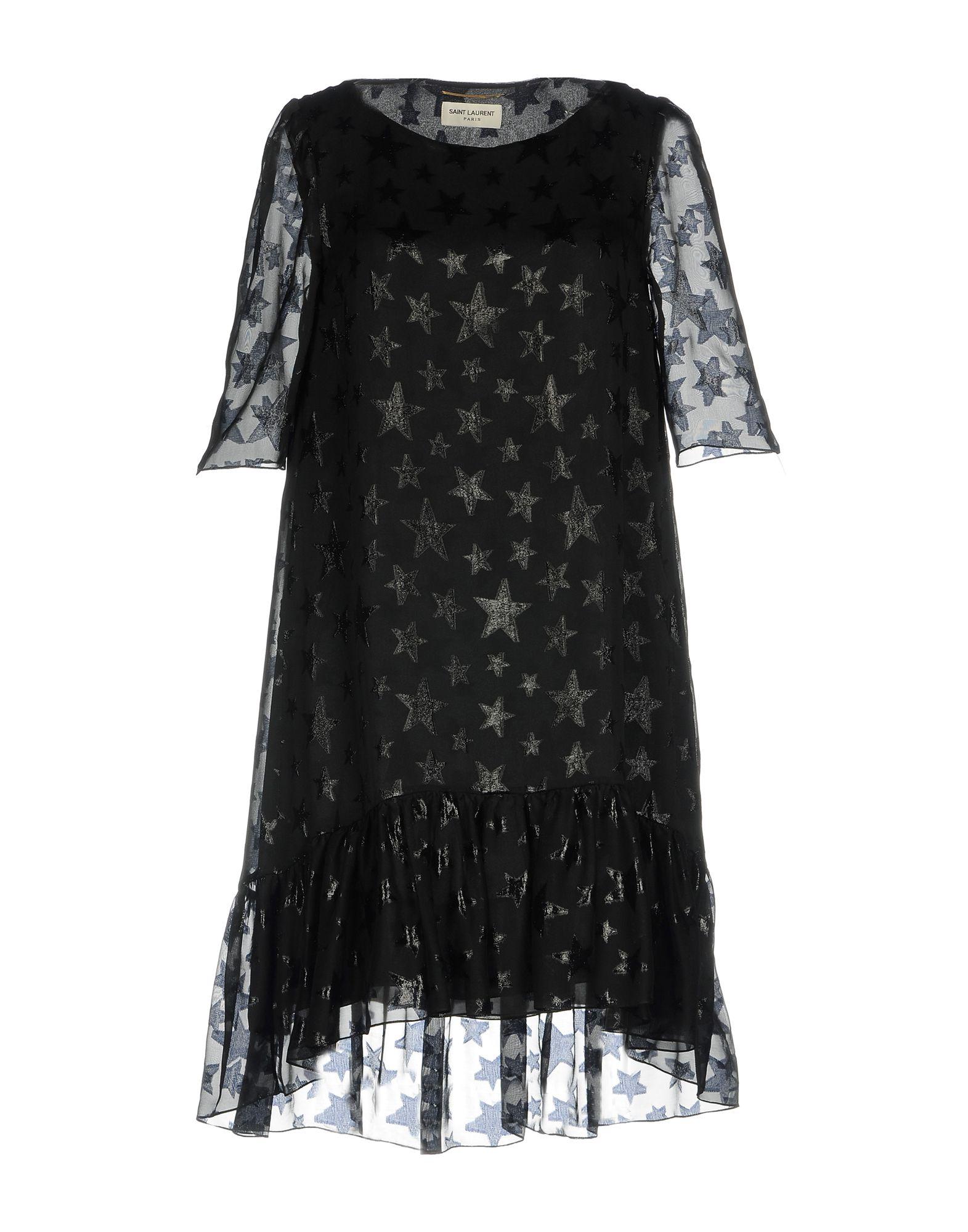 SAINT LAURENT Damen Kurzes Kleid Farbe Schwarz Größe 5