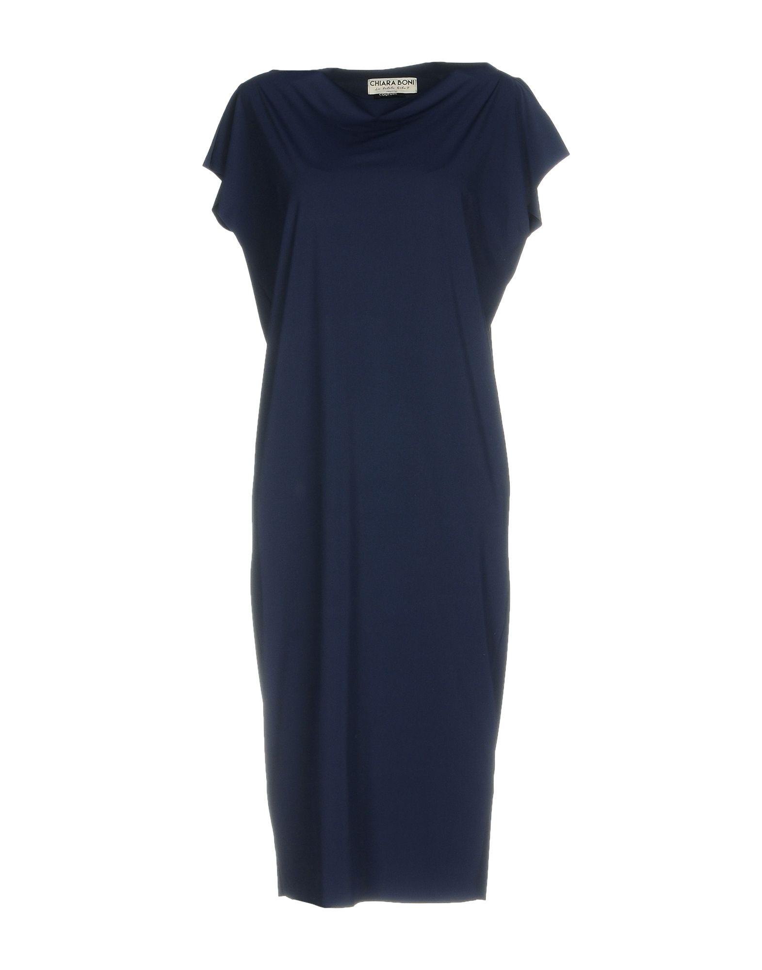 CHIARA BONI Knee-Length Dress in Dark Blue