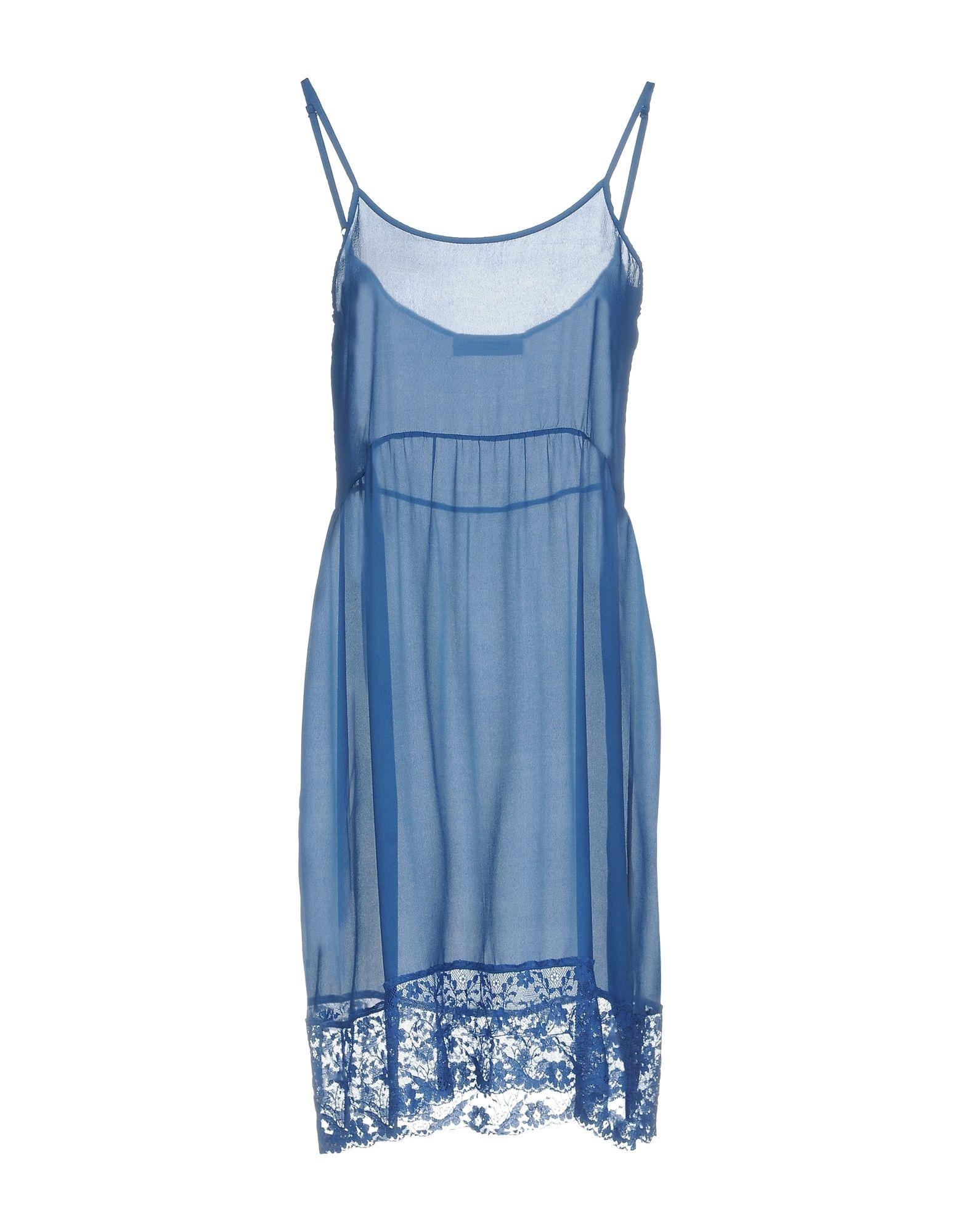 ANNA RACHELE JEANS COLLECTION Короткое платье платье без рукавов с кружевной вставкой на спинке