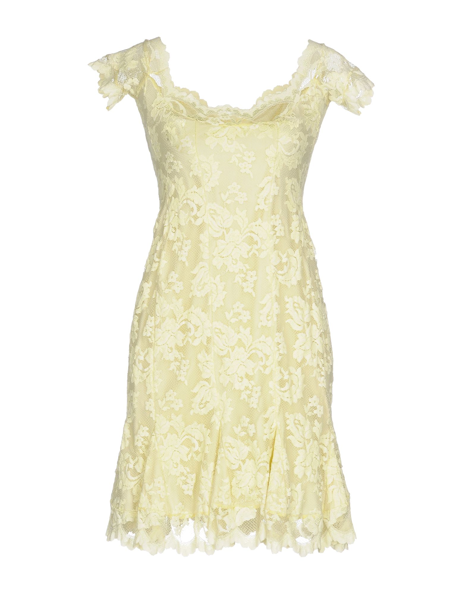 BALENSI Short Dress in Light Yellow
