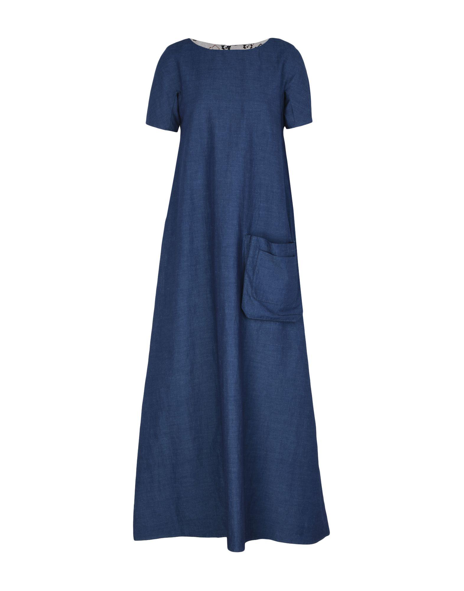 ALTEA dal 1973 Длинное платье altea dal 1973 джинсовая рубашка