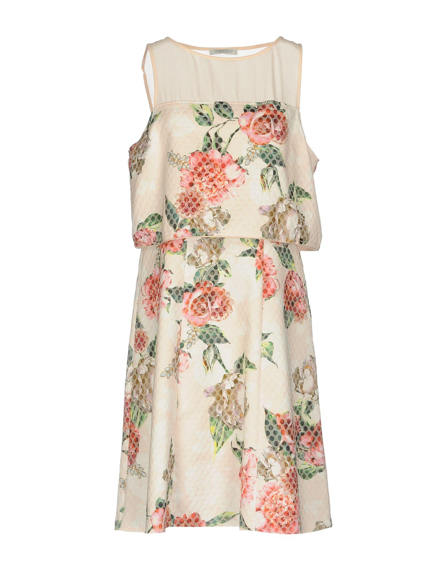 LUCKY LU Milano Короткое платье платье alex lu alex lu mp002xw0jbke