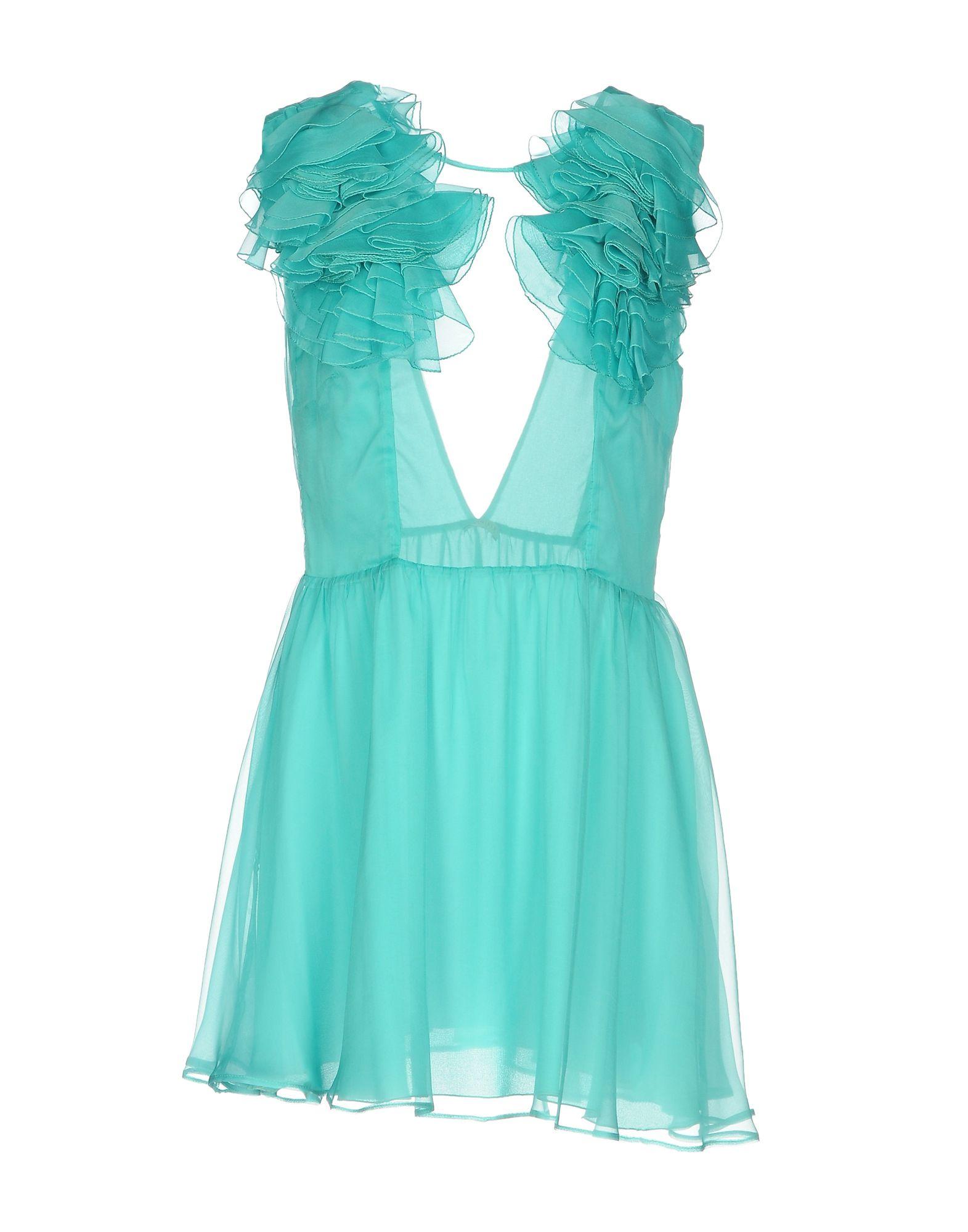 цена DANIELE CARLOTTA Короткое платье онлайн в 2017 году
