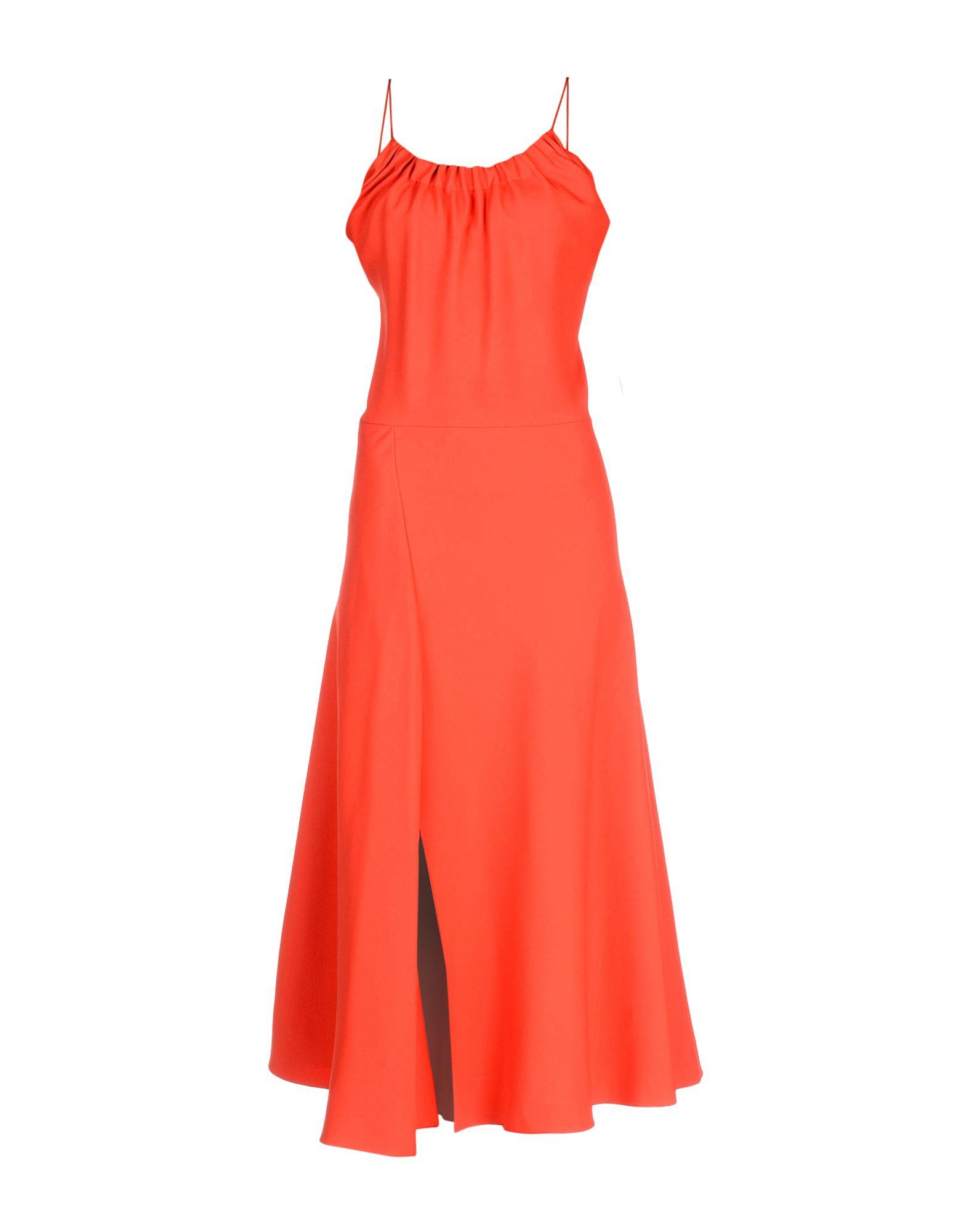 VICTORIA BECKHAM Длинное платье платье короткое спереди длинное сзади летнее