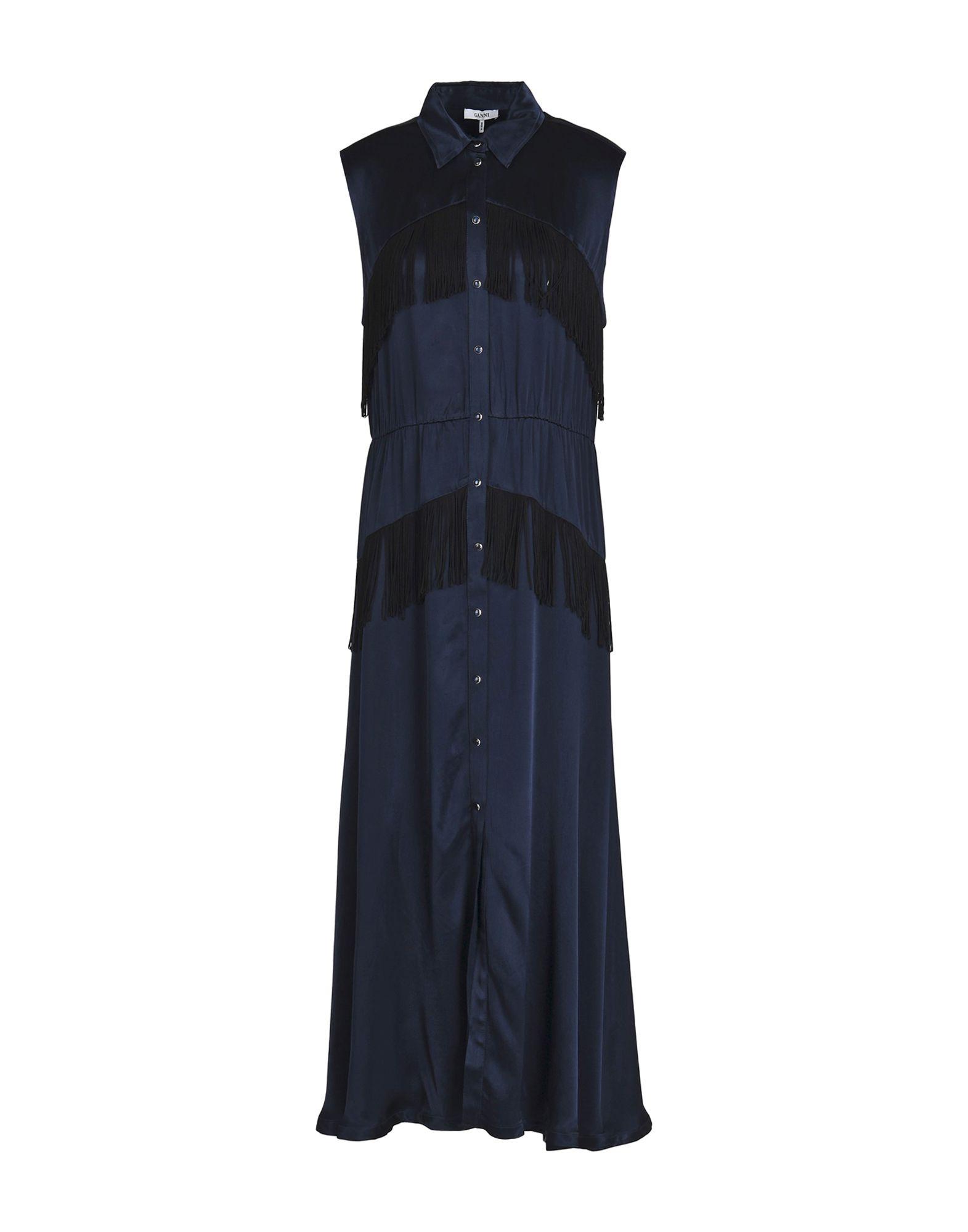 GANNI Длинное платье ganni serra платье женское
