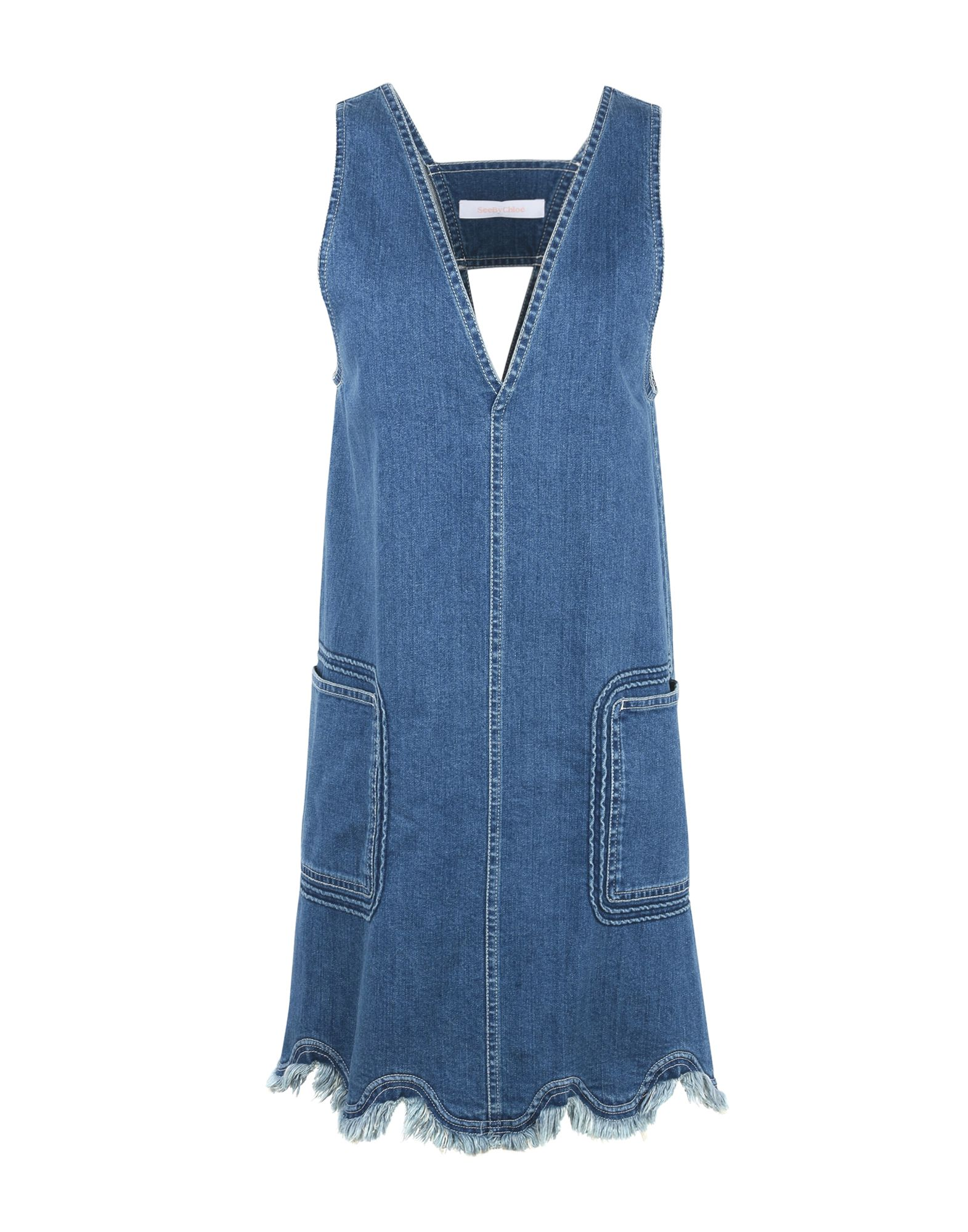 SEE BY CHLOÉ Короткое платье платье с зернистым рисунком chloé