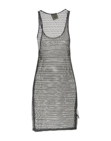 Фото 2 - Женское короткое платье JIJIL свинцово-серого цвета