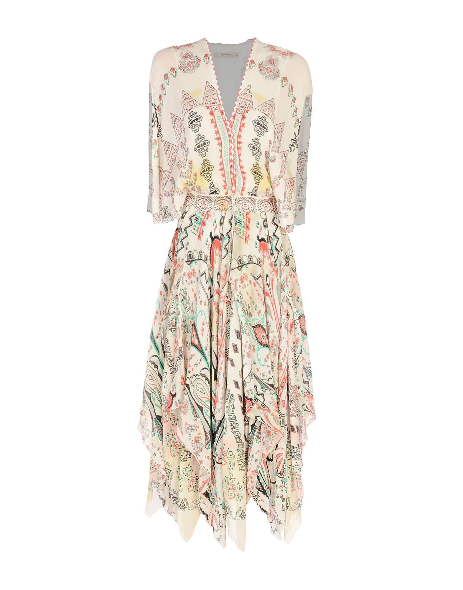 ETRO Платье длиной 3/4 платье etro серый