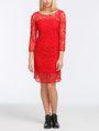 ARMANI EXCHANGE FLORAL LACE OVERLAY SHEATH DRESS Mini dress Woman f