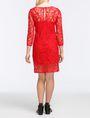 ARMANI EXCHANGE FLORAL LACE OVERLAY SHEATH DRESS Mini dress Woman r
