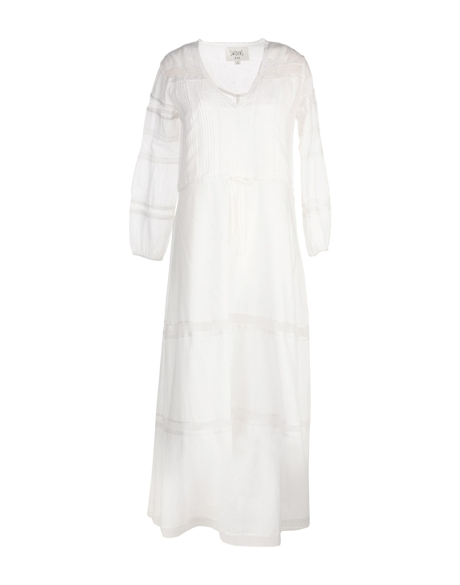 SWILDENS Длинное платье anais gillian комбинация