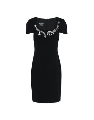 BLACK CRYSTAL-EMBELLISHED DRESS