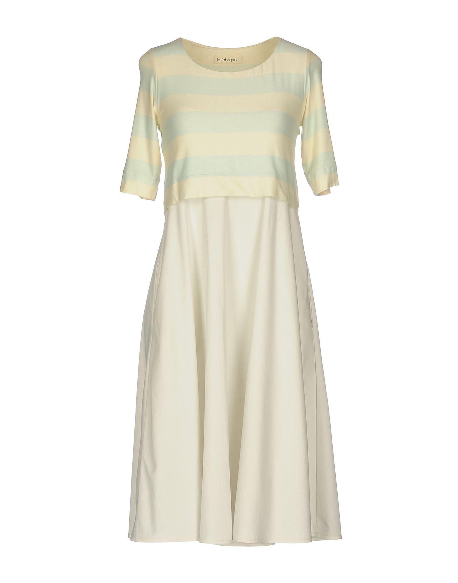 LA FABRIQUE Платье до колена la fabrique юбка длиной 3 4