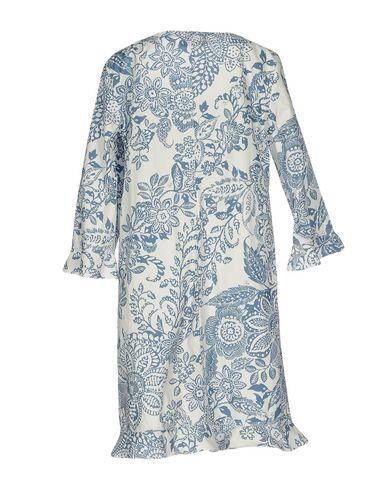Фото 2 - Женское короткое платье FAY пастельно-синего цвета