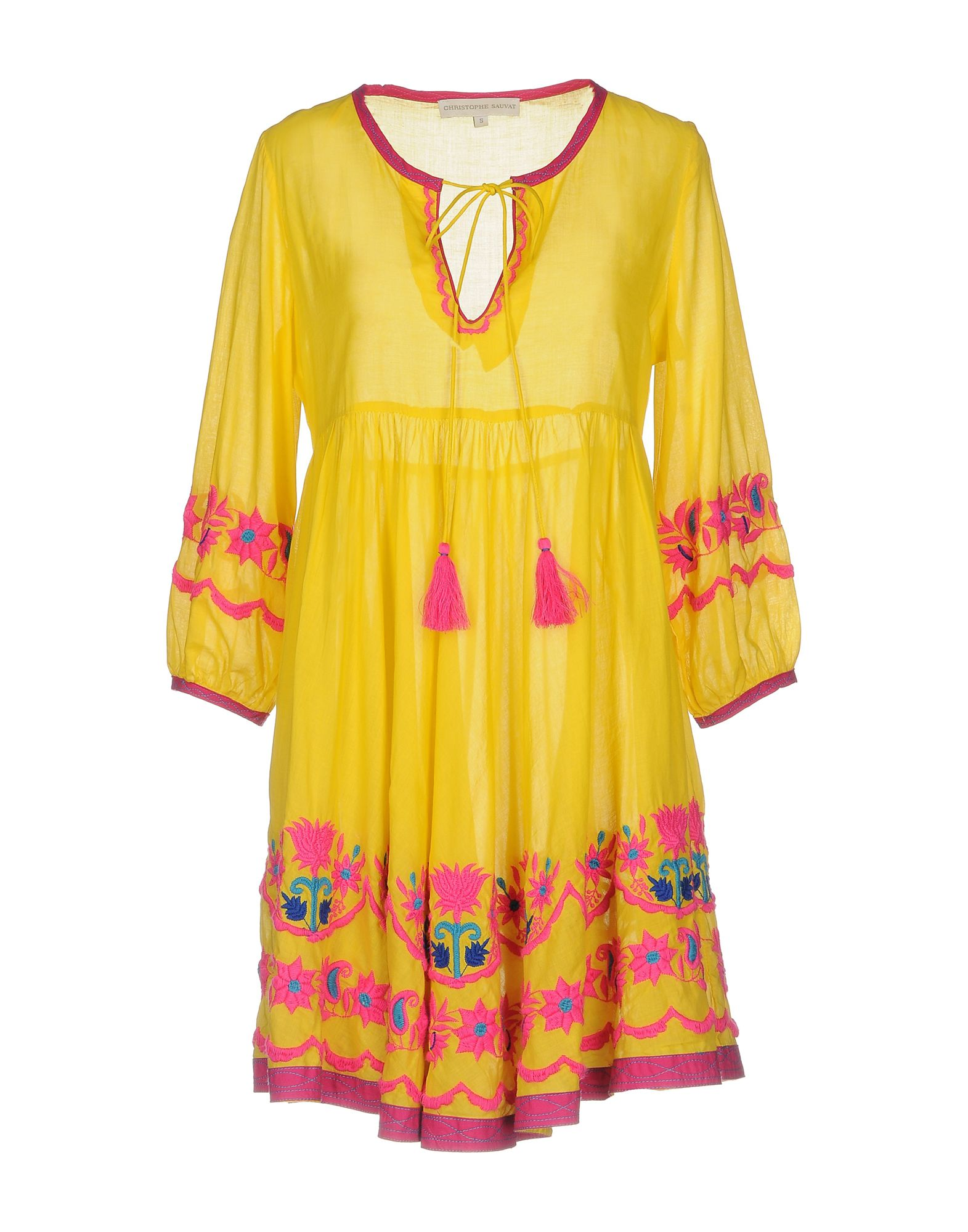 CHRISTOPHE SAUVAT COLLECTION Christopher Sauvat Cordoba Embroidered Tunic Dress in Nocolor